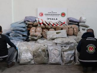 Kilograms of marijuana seized at the ipsala gumruk door