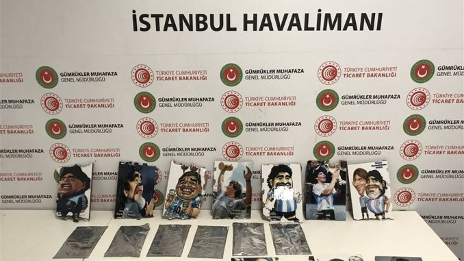 Cocaine hidden in the tables of the marathon was seized at Istanbul airport