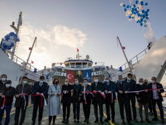 Ugur Mumcu car ferry joining izdeniz fleet made its first voyage