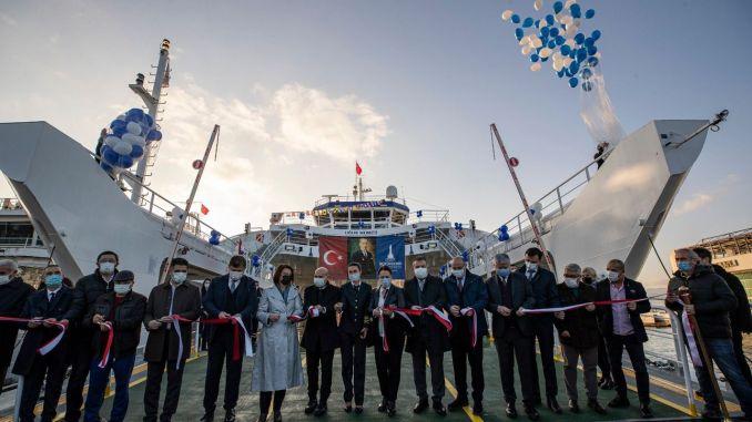 Ugur Mumcu car ferry joining izdeniz fleet made its first voyage