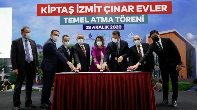 Foundation of kiptas izmit cinar houses social housing project was laid