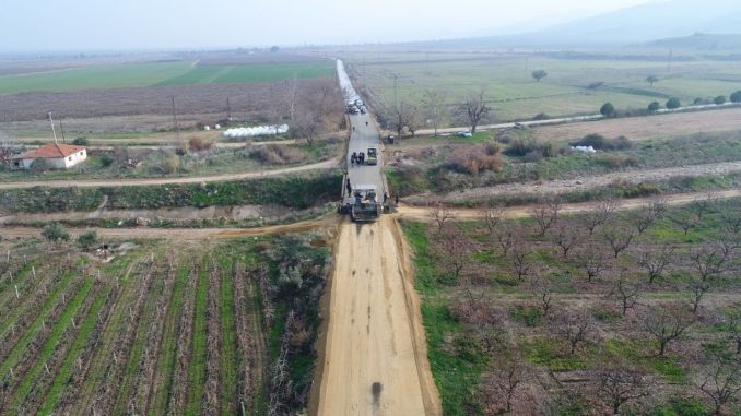 The concrete road network of the manisa is expanding