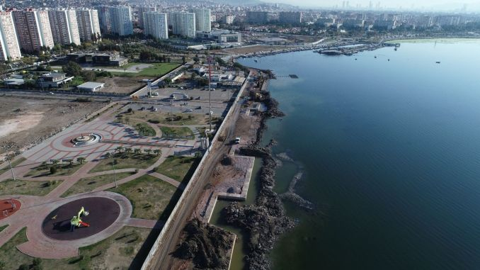 Mavisehir coastal rehabilitation project is continuing rapidly