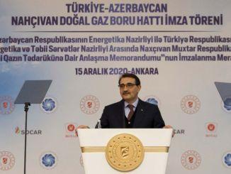 تم إلقاء خط أنابيب الغاز الطبيعي تركيا Nakhchivan على التوقيعات