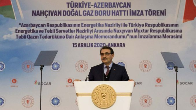 turkey Nakhchivan natural gas pipeline on the signatures were thrown