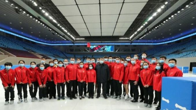 jin president xi jinping winter examined preparations for olympics