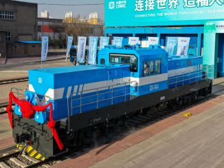 The first hydrogen-powered locomotive manufactured in China was introduced.