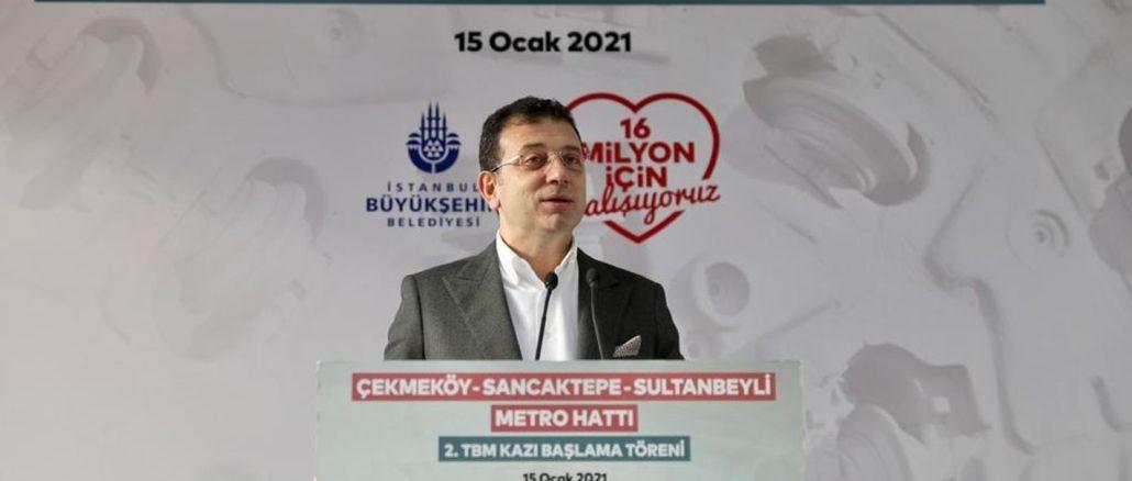İmamoğlunun məqsədi, metronu ildə km-lə İstanbullulara çatdırmaqdır.