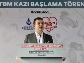 Scopul nostru de imamoglu este de a aduce metroul la Istanbulite în km pe an.