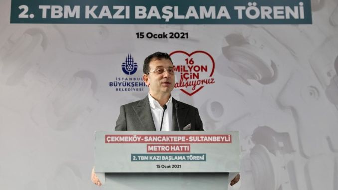 Our goal of imamoglu is to bring the metro to Istanbulites in km per year.
