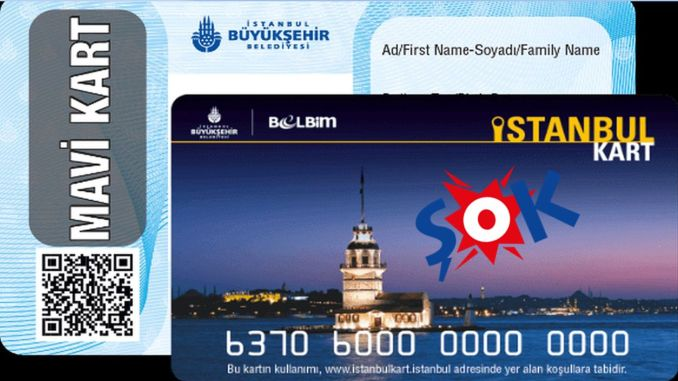 Sok market with an istanbulkart branch added to its network
