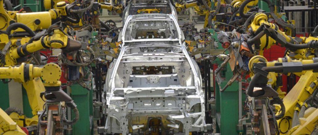 เปอร์เซ็นต์การผลิตในการส่งออกยานยนต์ลดลงเปอร์เซ็นต์