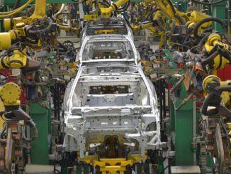 自動車の輸出割合が減少