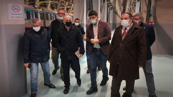 TCDD Tasimacilik general manager pezuk made observations in marmaray