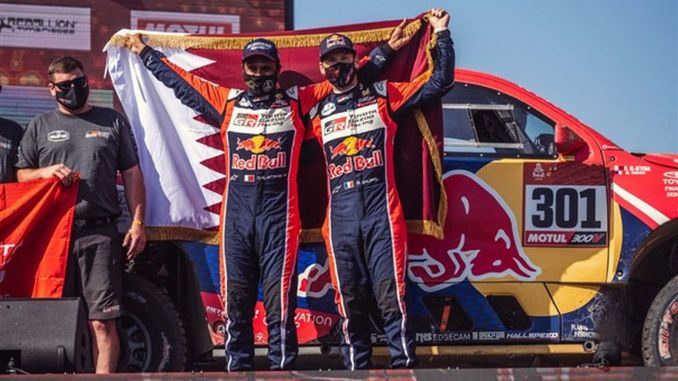 toyota gazoo racing completed the dakar rally on the podium