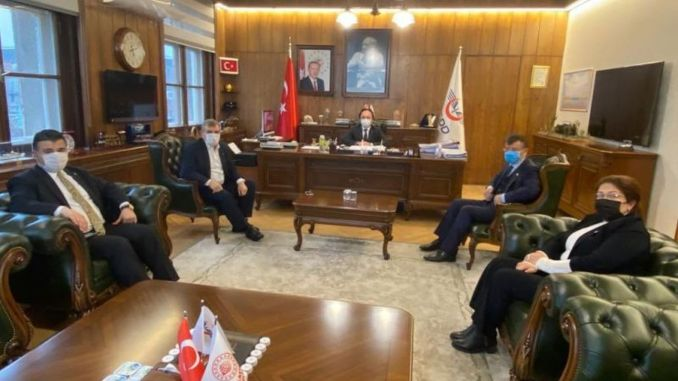 urfali delegation met for gaziantep sanliurfa high speed train project