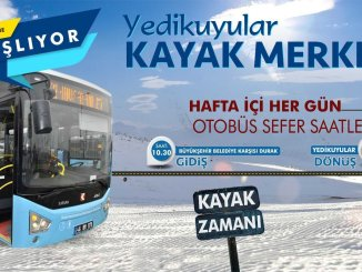 تبدأ خدمات حافلات مركز Yedikuyular للتزلج