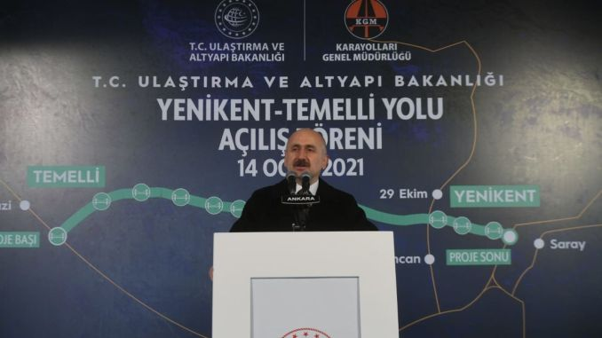 Yenikent-based road was opened to reach with toren