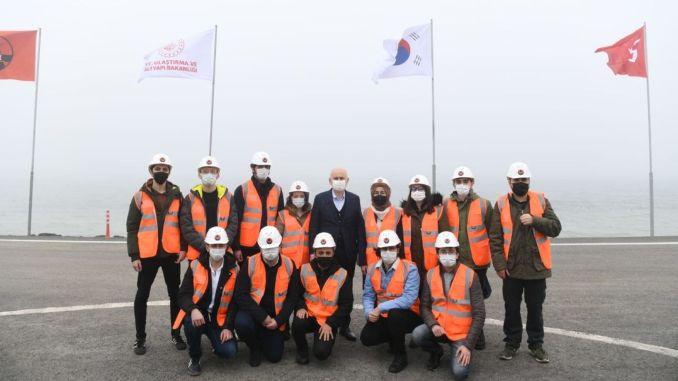 canakkale bridge main cable installation begins