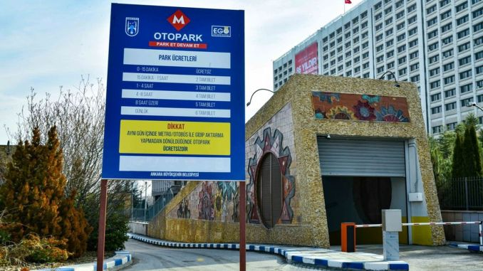 Park in ankara metro stations new term, continue
