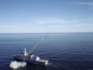Unsere nationale Anti-Schiffs-Rakete des Falken hat ihr Ziel erfolgreich zerstört