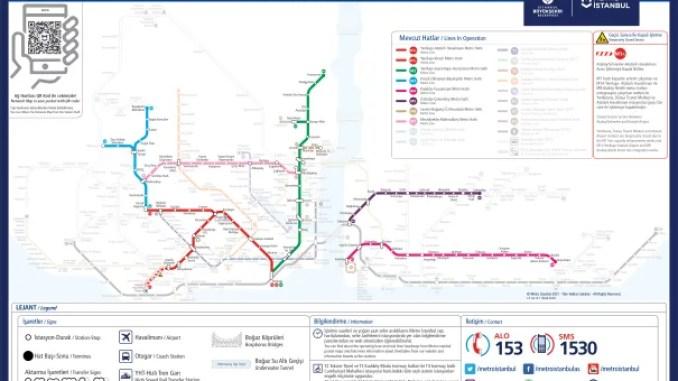 current istanbul metro map