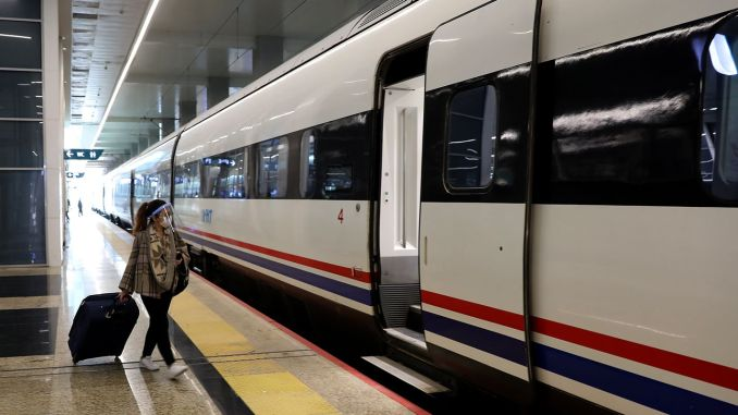 When will high-speed trains carry passengers with percent capacity?