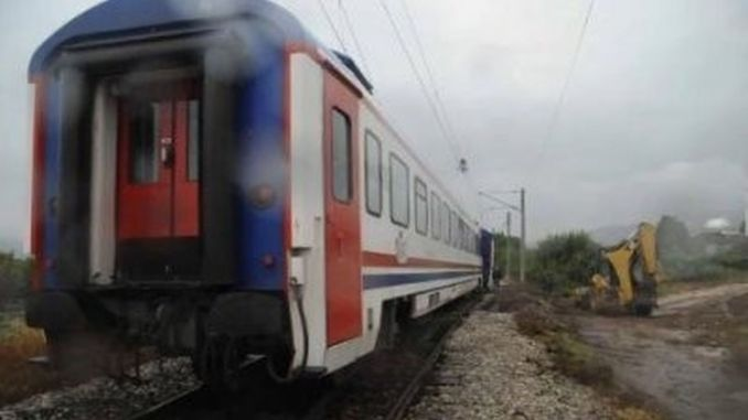 Railway worker was seriously injured as a result of the accident he had in Izmir.