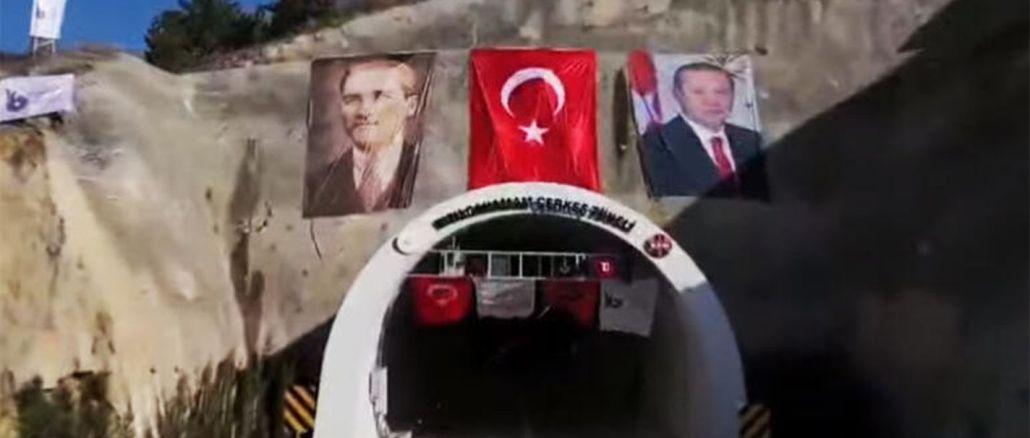 kizilcahamam cerkes tunnel opened