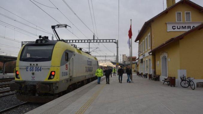 test drives started in konya karaman high speed train line