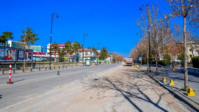 Road expansion works are in progress on Malatya station street