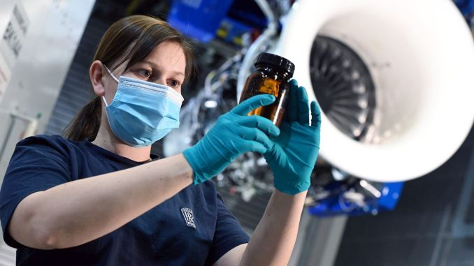 roll royce takes first test of sustainable aviation fuel