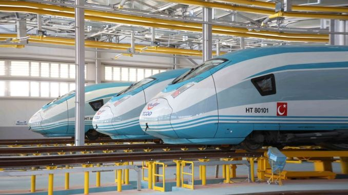 Siemens has reached the last of the set yht turkiyede