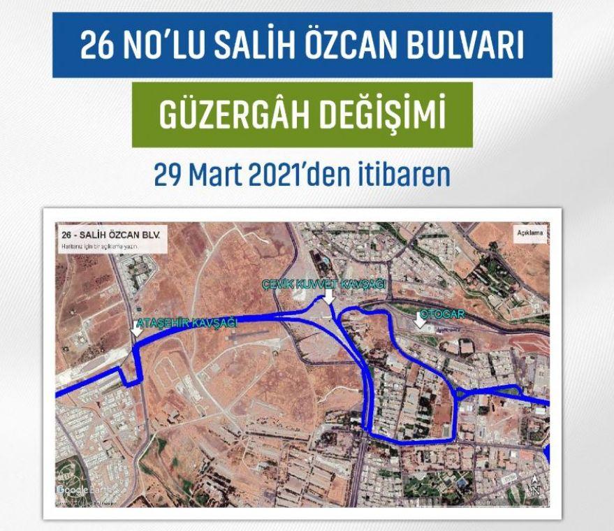 Salih Ozcan Boulevard route change