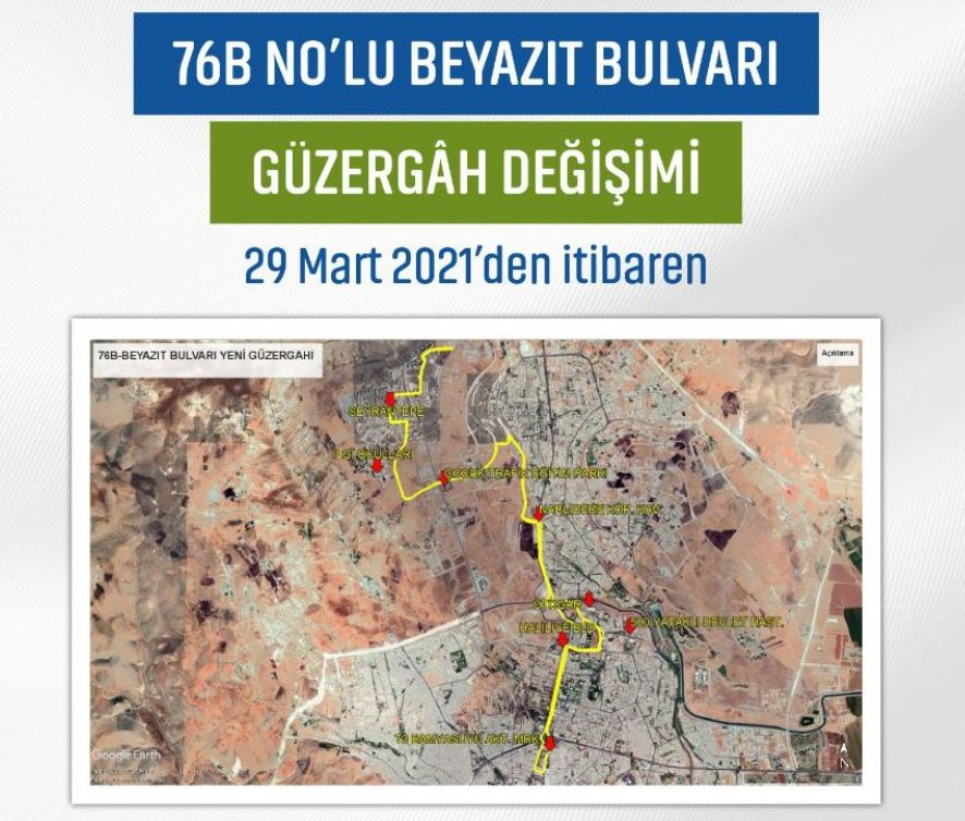Bnolu Beyazit Boulevard route change