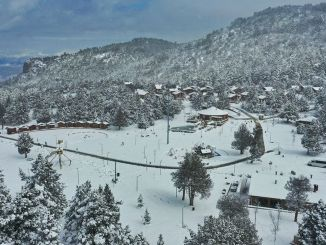 Denizli Cable Car and Bagbasi Plateau Turns White Again