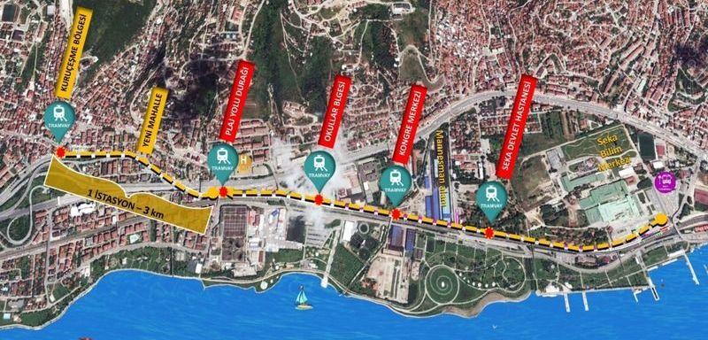 Kurucesme Tram Line Map