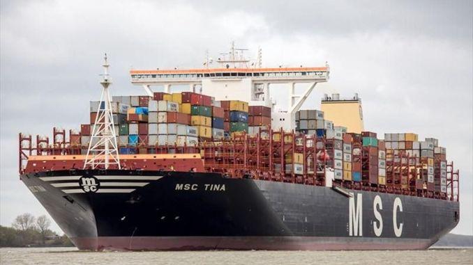 Container ship hit the pier in Ambarli port