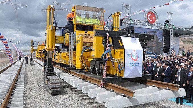 ankara sivas yht line first rail paving