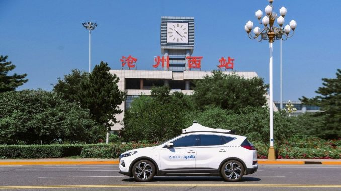 baidu begins driverless taxi service with apollo go