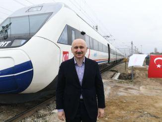 Minister Karaismailoglu Kirikkalesi High Speed Train Tunnel Construction Investigation