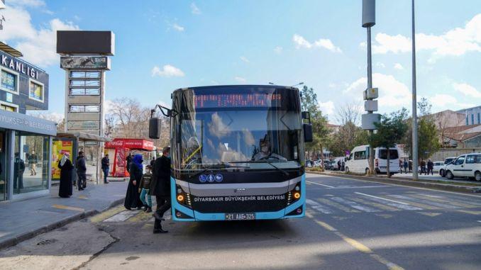 Public transportation network is expanding in diyarbakir