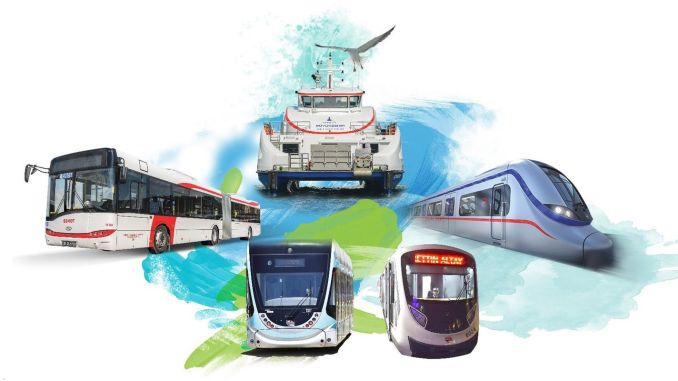 Izmir Eshot -metro raitiovaunu izdeniz ja izbana lauantaina