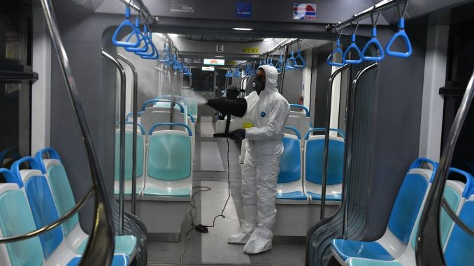 All-day disinfection for public transportation vehicles in Izmir