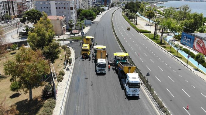 Izmir's roads have been renewed throughout the year