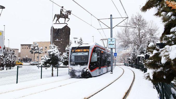 Silence application in public transport against coronavirus in Kayseri