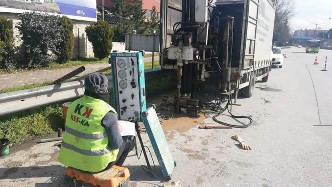 First drilling works started for the Kurucesme tram line