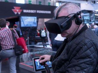 Ar massey Ferguson virtuālās realitātes lauksaimnieks ir gandrīz tur