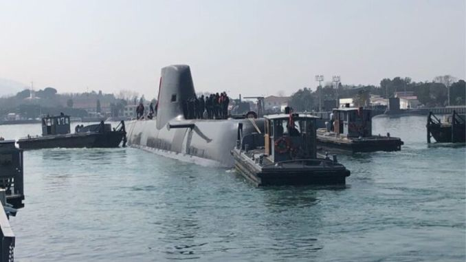 Our national submarine charis, Piri Reis, was launched