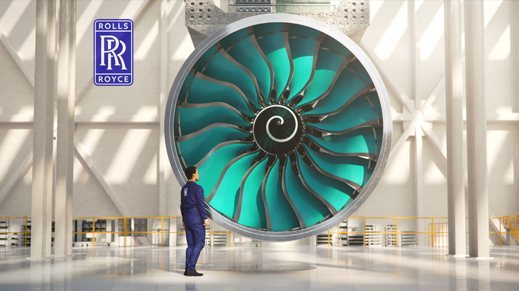 Rolls Royce started building the world's largest airplane engine